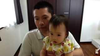 1歳3ヶ月の子供の言語能力を公開。英語の動画のはずが、喋れるのはまだ...
