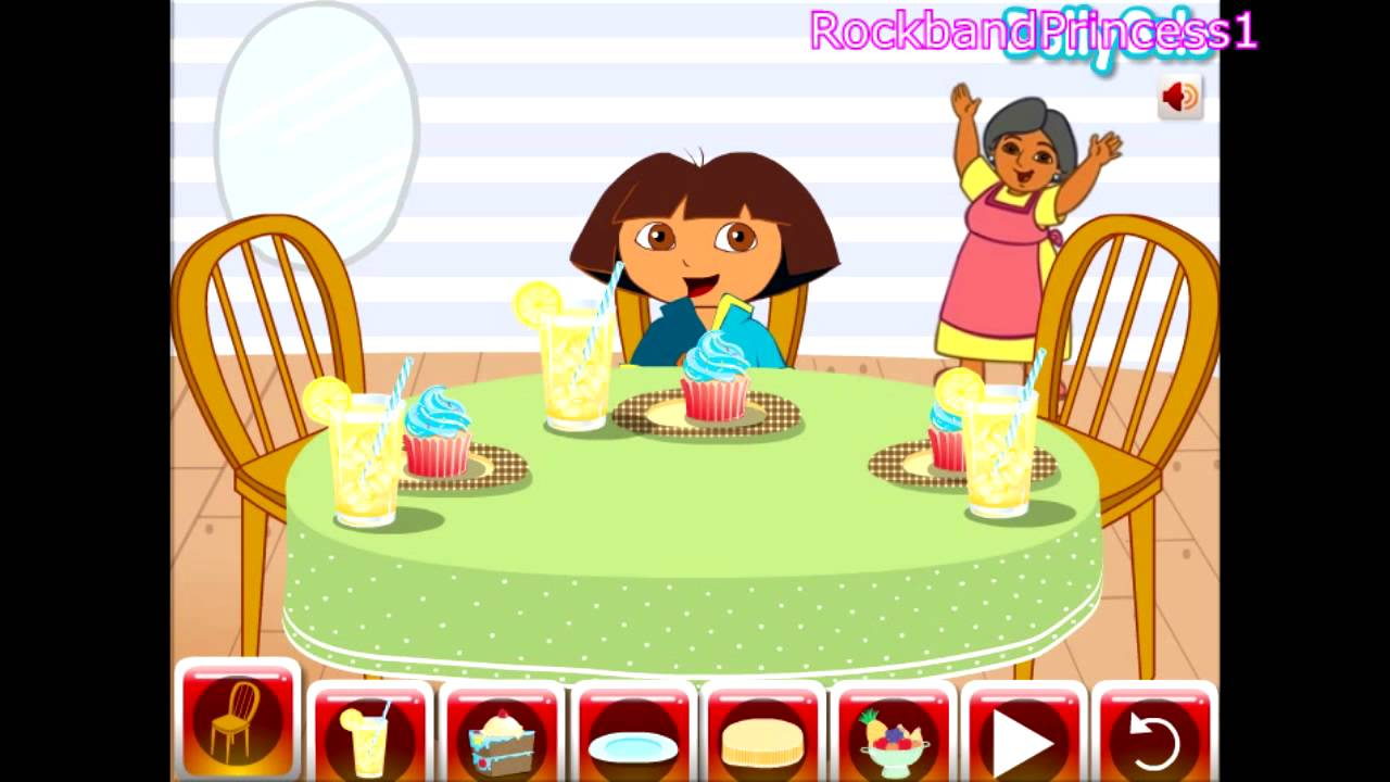 Dora The Explorer Online Games Dining Table Decor Game