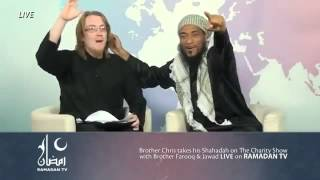 Amazing clip the pastor converts to Islam on  live