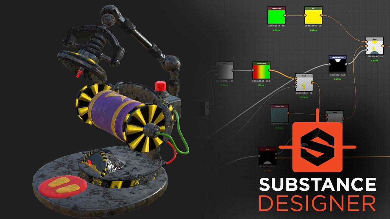 Substance Designer - Animated Procedural Battery Gauge (Powerbar)