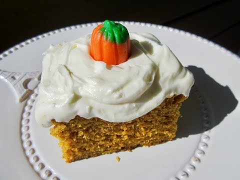 PUMPKIN CAKE - How To Make Moist PUMPKIN CAKE W/ CREAM CHEESE FROSTING Recipe