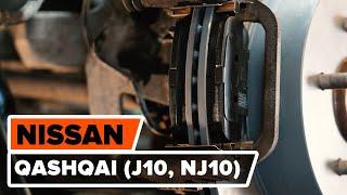 Como substituir pastilhas de travão traseira noNISSAN QASHQAI (J10, NJ10) [TUTORIAL AUTODOC]
