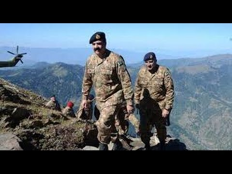 Pakistan Army chief General Raheel Sharif visits LoC