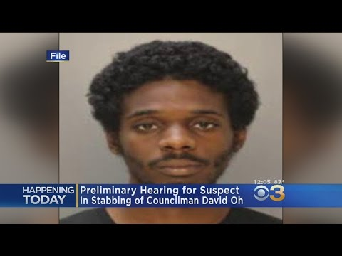 Preliminary Hearing For Suspect Charged With Stabbing City Councilman