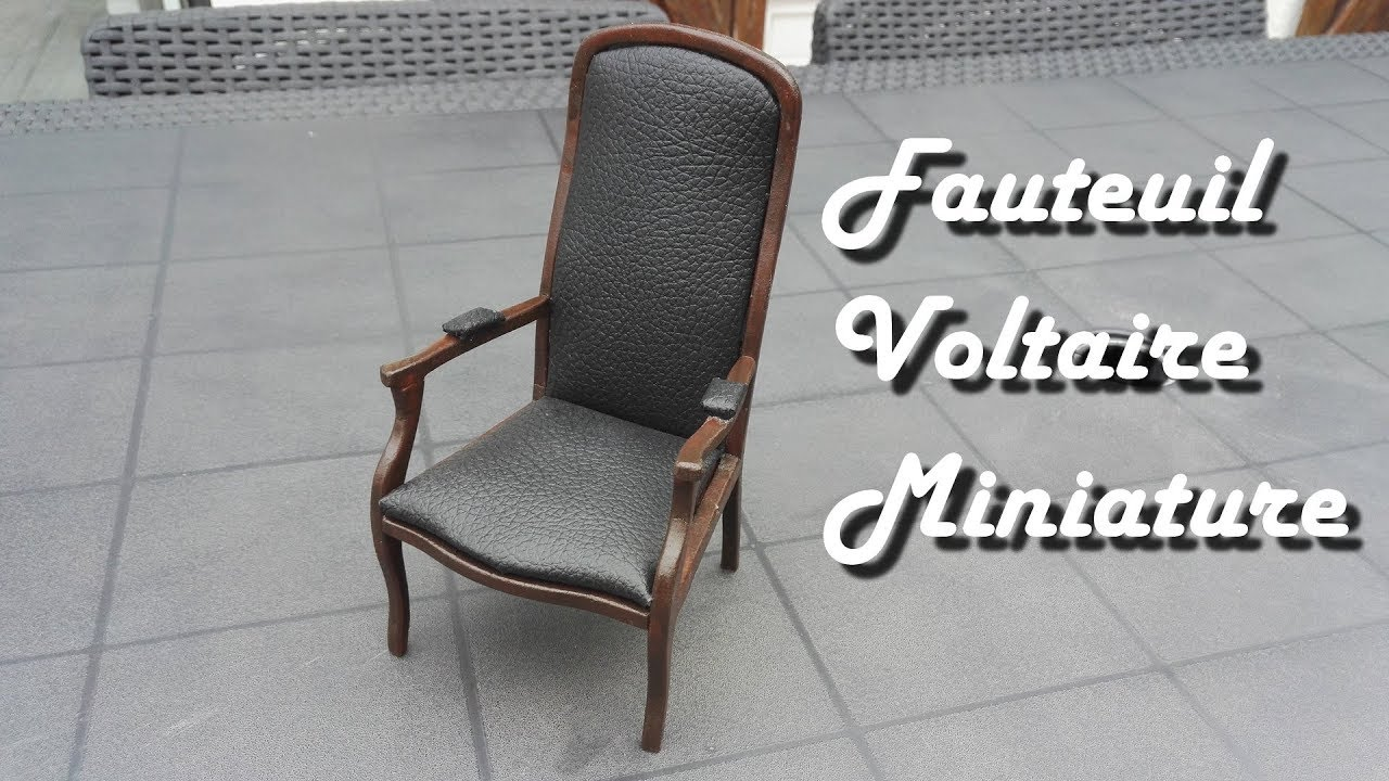 Restaurer Fauteuil Voltaire Moderne [mini tuto] miniature voltaire armchair