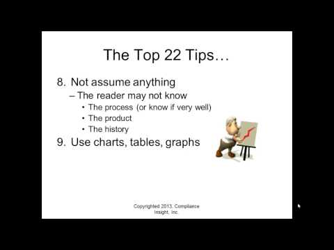 Top 22 Tips for Writing for FDA Compliance