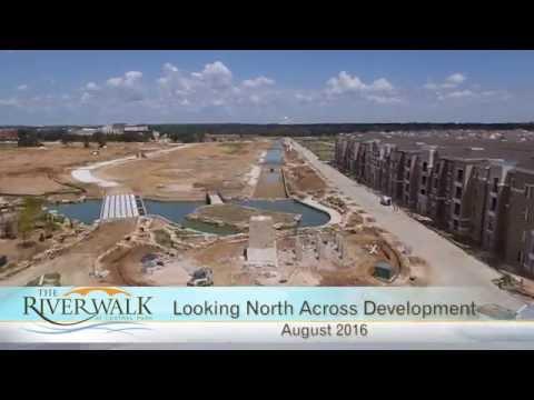 Aerial Video of RiverWalk Construction Progress - August 2016