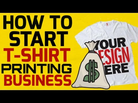 T shirt printing business urdu hindi for How to start t shirt printing business