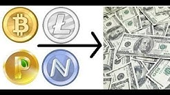 How To Convert Bitcoin Litecoin Namecoin Novacoin Terracoin Peercoin Feathercoin Primecoin To USD