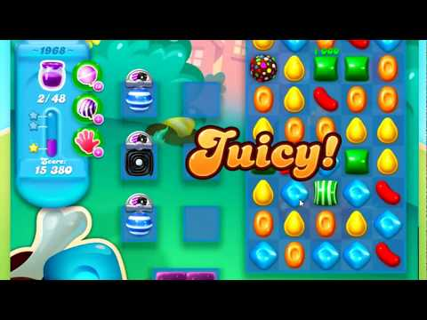 Candy Crush Soda Saga Level 1968 - Impossible - no way to spread the jam
