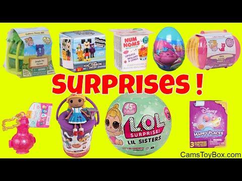 Toy Surprises LIL Sisters Series 2 Kitty Carrier Num Noms Disney Crossy Road Lalaloopsy Trolls - 동영상