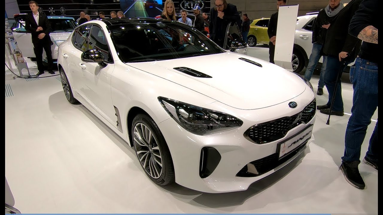 kia stinger gt line new model white colour walkaround interior youtube. Black Bedroom Furniture Sets. Home Design Ideas