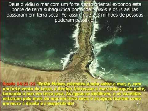Prova Que Moises Abriu O Mar Vermelho E Atravessou Com Seu Povo