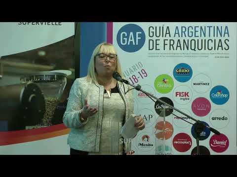 Susana Perrotta presidente de la AAMF en el lanzamiento de la Guía Argentina de Franquicias