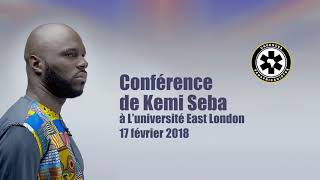 Conférence de Kemi Seba à L'université East London