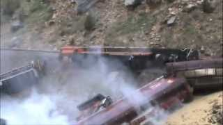 Raw Video: Wind River Canyon Derailment