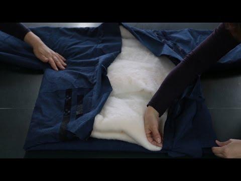 03 The making of Hanten 袢天ができるまで (Japanese cotton padded jacket) @ Miyata Orimono / 宮田織物