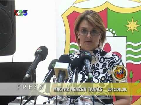 K23TV - Press iz prve ruke - Magyar Nemzeti Tanács - 2012. augusztus 30.