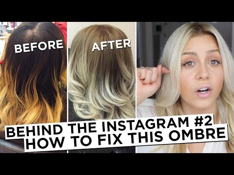Behind The Instagram #2 - How To Fix Brassy Blonde Ombre Hair