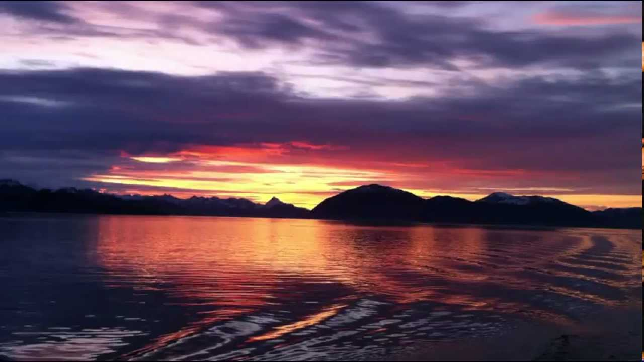 Iphone Default Wallpaper Alaska Sunset 10pm Vista On Back Of Boat Iphone 4 Video