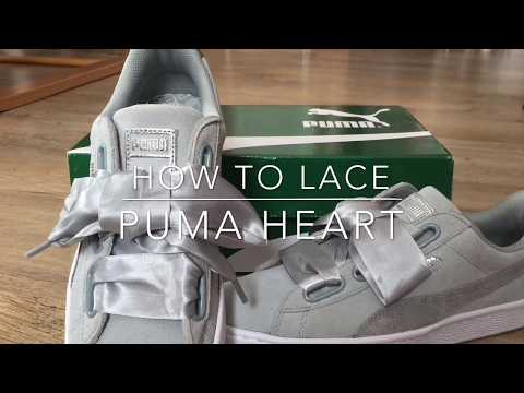 How to lace PUMA HEART YouTube