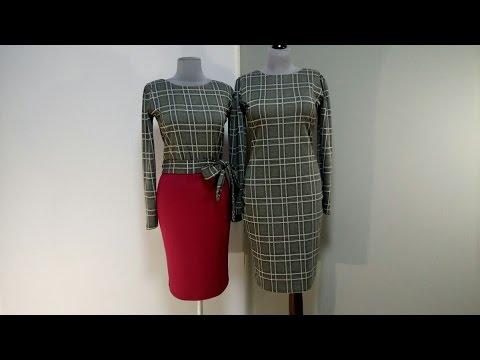 Платья в клетку в деловом стиле