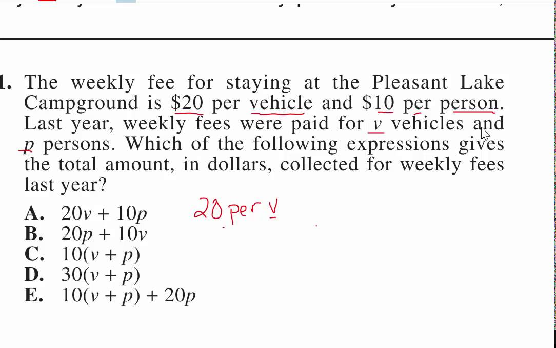 ACT Test 2014/15 Math problem 1 - YouTube