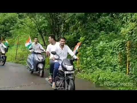 Independence day ride with flag | Eastern expressway Thane | Vande mataram
