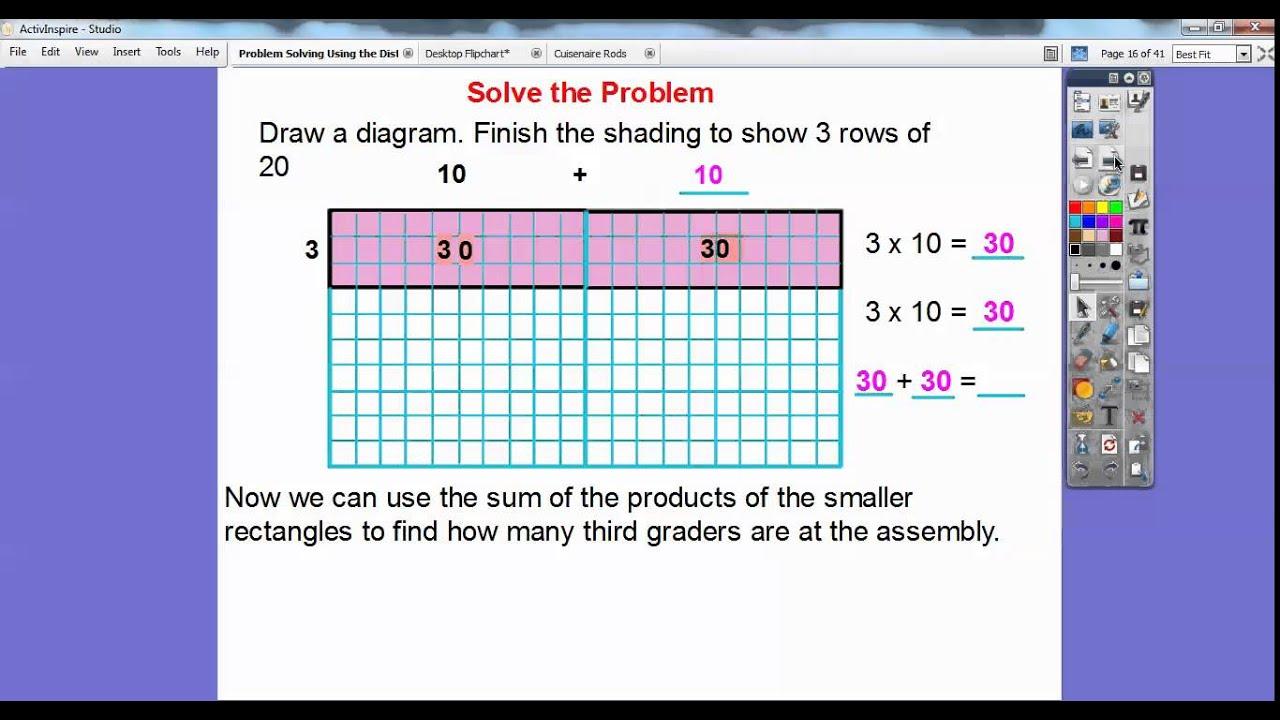 Problem Solving  Using The Distributive Property