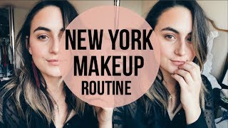 HOW I GET READY FOR WORK | NYC MAKEUP ROUTINE