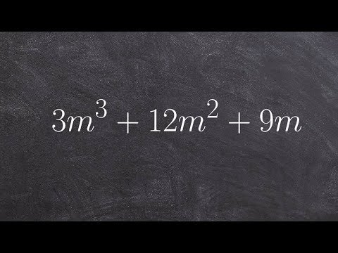 Factoring out the GCF from a polynomial then factoring further
