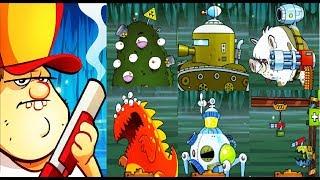 все Боссы Игры Swamp Attack (Android) (1 - 10 Эпизоды)