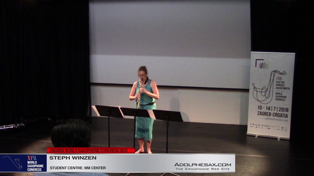 Piece 7    Steph Winzen   XVIII World Sax Congress 2018 #adolphesax