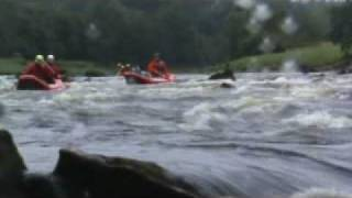 RAFTING RIVER DEE NEAR BANCHORY SCOTLAND WITH G2 OUTDOOR