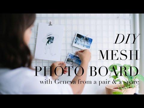 DIY (super easy) Mesh Photo / Inspiration Board