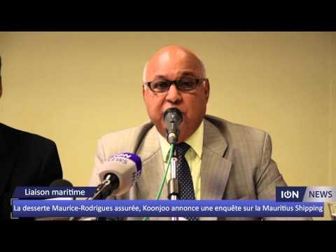 La desserte Maurice-Rodrigues assurée, Koonjoo annonce une enquête sur la Mauritius Shipping