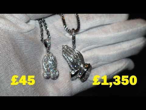 "Real vs ""Fake"" Diamond Chain. What's the difference: Cubic Zirconia vs Diamonds"
