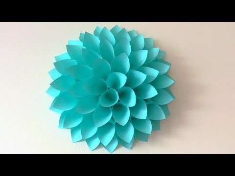 Big paper flowers DIY. Giant flowers DIY. Wall decor.