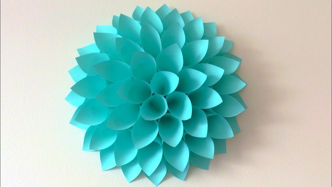 Big Paper Flowers Diy Giant Flowers Diy Wall Decor Youtube