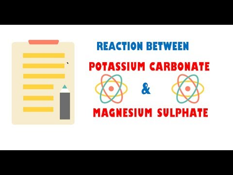 Potassium Carbonate And Magnesium Sulphate Youtube
