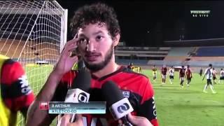 Arthur (Atlético-GO) já pensa no Criciúma - Imagens: PFC (GLOBO)