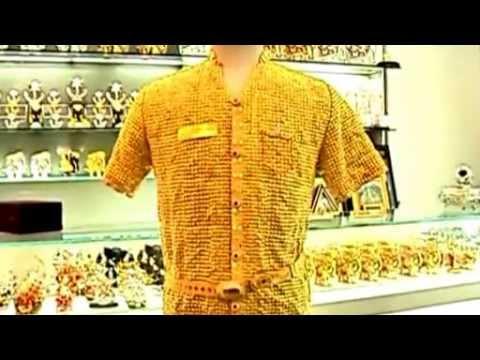 Se fabrica una camisa de oro puro youtube - La casa del compas de oro ...