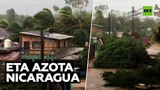 Huracán Eta golpea Nicaragua