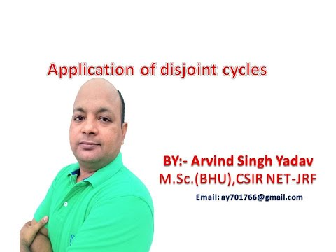 Application of disjoint cycles, symmetric group
