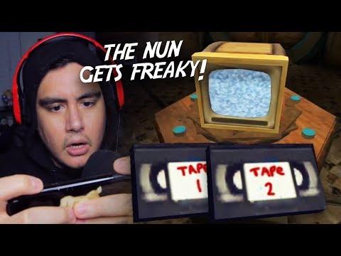 SO WE FOUND THE EVIL NUN'S SECRET VIDEOTAPES.. | Evil Nun (Scary Mobile Game)