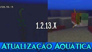 Novos Recursos Aquáticos no Minecraft PE 1.2.14 - Novidades Beta do Minecraft PE Update Aquatic 1.3