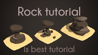| PigArt | BLENDER Tutorial: Low poly rocks