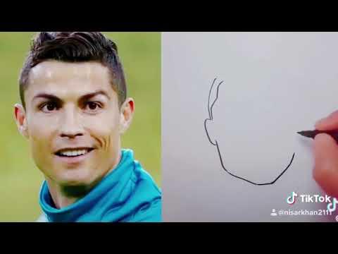 Tik Tok Hand drawn image for Cristiano Ronaldo 2018 by Nisar khan