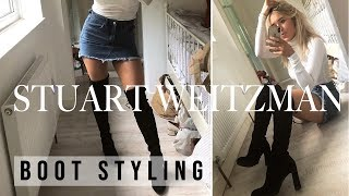 HOW TO STYLE KNEE HIGH BOOTS & STUART WEITZMAN KNEE HIGH BOOTS REVIEW | KNEE HIGH BOOTS OUTFIT IDEAS