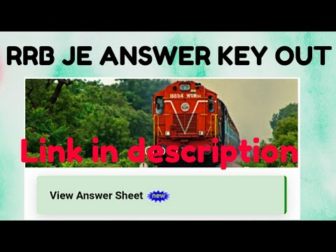 RRB JE CBT 1 ANSWER KEY OUT | HOW TO SEE YOUR RRB JE ANSWER KEY